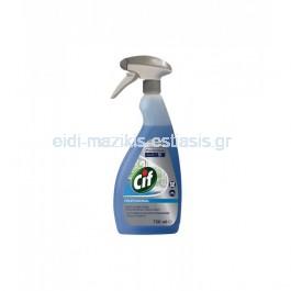 Cif Profesional Καθαριστικό Γυάλινων & Σκληρών Επιφανειών,750ml