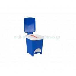 Κάδος Απορριμμάτων 18lt Πλαστικός Επαγγελματικός/Οικιακός, Με Πεντάλ-Πλαστικό Στεφάνι