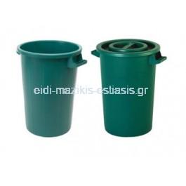Κάδος Συγκομιδής 50lt Φ41x49cm Πλαστικός με Καπάκι 2.48Kg Επαγγελματικός Πράσινος